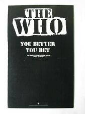 """THE BEATLES """"YOU BETTER YOU BET"""" HS 3516 RECORD STORE BIN DIVIDER PROMO 1981"""