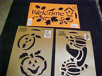 Halloween Stencils 3 Pumpkins Witches Hat Welcome Birds By Plaid Simply Stenci