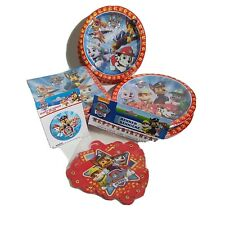 Paw Patrol Birthday Party Bundle, Plates, Napkins Banner & Guest Of Honor Button