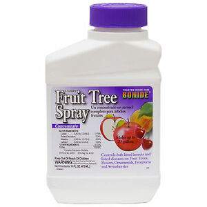 Fruit Tree Spray Concentrate ( 16 oz ) Insecticide Fungicide Aphicide Miticide