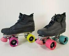 Original Custom Converse All Star Black Quad Roller Skates Women's Chicago Nitro