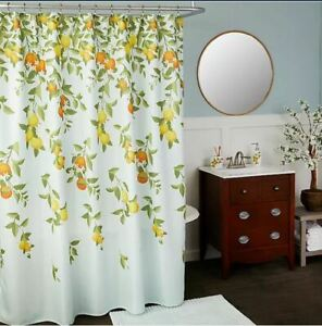 Vern Yip by SKL Home Citrus Grove Shower Curtain Colorful Embroidered Design
