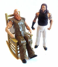 "WWE TNA Wrestling WYATT FAMILY & Rocking Chair 6"" figure toy set"