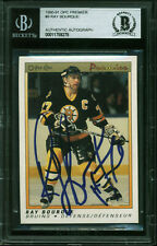 Bruins Ray Bourque Authentic Signed 1990 O-Pee-Chee Premier #9 Card BAS Slabbed