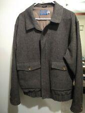 Pendleton Brown Wool Tweed Full Zip Jacket Men's Sz XL