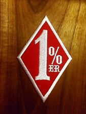 One Percenter 1%er biker outlaw motorcycle gang applique iron-on patch