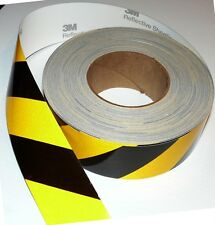 3M™ CLASS 2 REFLECTIVE SAFETY TAPE BLACK & YELLOW STRIP 50mm x 5m NEW