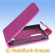 Flip Case Etui Handytasche Tasche Hülle f. Nokia Asha 501 (Pink)