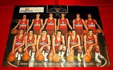 Poster Basket OLIMPIA CINZANO MILANO 1976-77 - cm 60 x 44