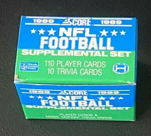 1989 Score Supplemental Football Empty Factory Set Collectible Box (no cards) b