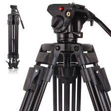 Professional Video Tripod System Heavy Duty Camera with Fluid Head 64''/163cm
