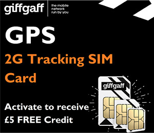 2G SIM CARD FOR GPS TRACKING DEVICE TRACKER GSM CAR PET CHILD PERSONAL PAYG 02