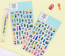 Cactus Sticker 2 Set Diary Planner Book Scrapbook Calendar Study Cute Decor