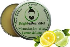 Lemon & Lime Moustache Wax Strong Hold for Styling Handlebar Twists & Curls 15ml