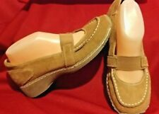 Women's Yellow Box MaryJane Suede Leather Shoes Sz 8 Apricot-S