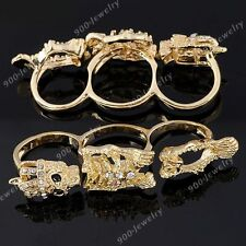Crampon griffe nagelring doigts bague punk gothique lady gaga nail sticker HOT