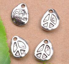 wholesale 10pcs tibetan silver peace Charm Pendant Fit necklace 15mm
