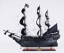 """Black Pearl 35"""" Handcrafted Wooden Tall Ship Model Pirates of the Caribbean"""