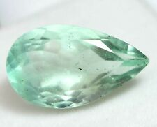 17.65 Ct Natural Green Colombian Emerald Fluorite Certified Untreated Gemstone