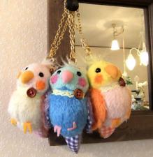 Japan Piccina Little Bird Mascot Plush Parakeet Doll Charm Keychain Cute Kawaii