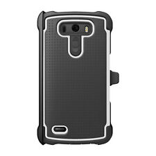 Ballistic TX1441-A487 Tough Jacket Maxx Case with Holster for LG G3 - White/Grey