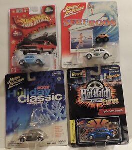 "Hot Wheels etc ""BEETLE BUNDLE""***Larry Wood design Holiday VW, JL Surf Rods, ETC"
