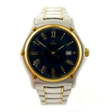 EBEL 1911 187902 BLACK DIAL 2-TONE 18K SOLID GOLD / STAINLESS STEEL MENS WATCH