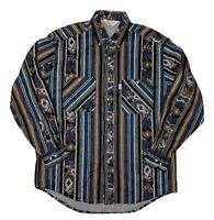 Carhartt Rugged Outdoor Wear Long Sleeve Flannel Shirt Southwestern Large L