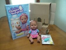 Vintage Kenner Newborn Diaper Surprise Doll NIB RARE African American Baby 1997