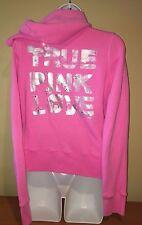 PINK Victoria Secret Pink Zip Up Hoodie  TRUE PINK LOVE *