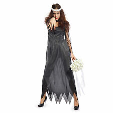 Ladies Halloween Zombie Corpse Bride Fancy Dress Costume UK 12 14