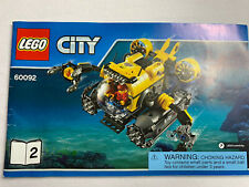 Lot 6 Lego City Instruction Manuals Only Books 60092 60091 4644 4432 4433 60092