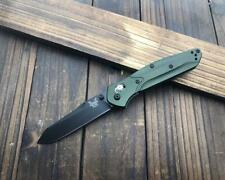 CNC 940 Black Blade Green Aluminum Handle AXIS Lock Folding Pocket Knife HD19