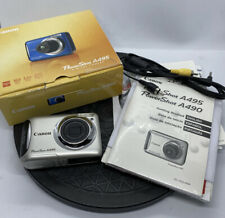 Canon PowerShot A495 10.0MP Digital Camera - Box , Cables , Instructions -GREAT