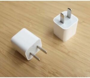 Authentic Apple iPhone 5W USB Wall Charger Power Adapter Cube A1385 XS X 8+ 7 A-