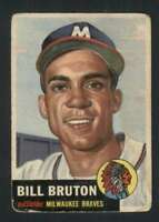 1953 Topps #214 Bill Bruton GVG RC Rookie Braves UER 88020