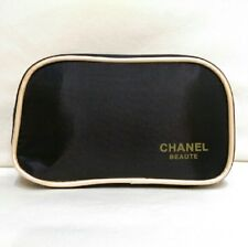 💖BEAUTIFUL🌹Chanel Beaute Promo  black nylon makeup bag/pouch/spa/beach/party