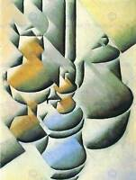 JUAN GRIS STILL LIFE WITH OIL LAMP OLD MASTER ART PAINTING PRINT POSTER 1772OM