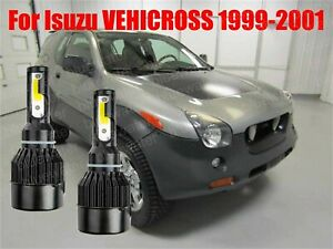 LED VehiCROSS 1999-2001 Headlight Kit H4/9003 6000K White CREE Bulbs Hi/Low Beam