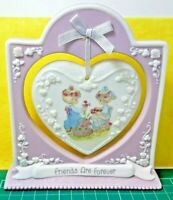 VTG PRECIOUS MOMENTS FRIENDS ARE FOREVER HANGING HEART 1997 #103488 COLLECTIBLE