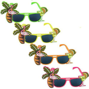 Flamingo Hawaiian Fancy Dress Sunglasses Glasses Cocktail Novelty Tropical Beach
