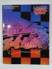 Autographed 1990 Indianapolis 500 Program Emerson Fittipaldi & Danny Sullivan