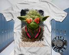 DJ Master Jedi Yoda White Cotton Tee Shirt Star Wars Rave Funny Mashup Parody