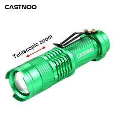 Castnoo SK68 3500 LM Q5 14500 AA ZOOM LED Flashlight MINI Torch Green UP