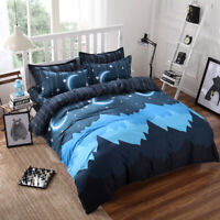 New Night Comfort Bedding Set Duvet Quilt Cover+Sheet+Pillow Case Four-Piece