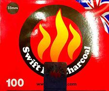 CHARBON CHARCOAL NARGUILE CHICHA BAKHOUR ENCENS SWIFT LITE 100 PASTILLES 33MM