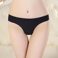 Women Cotton Solid Underwear Thong Spandex Briefs Shorts Bulge soft Underpants