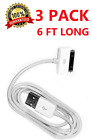 3X 6FT 30 pin USB Charging Data Cable Cord for iPad 1/2/3 iPod Nano 1-6