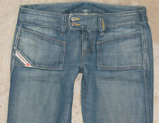 Diesel Womens Hush DS Jeans Sz 27 Low Bootcut 100% Cotton Distressed Wash