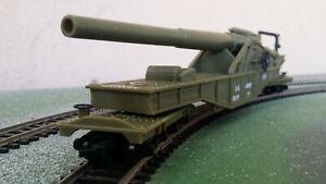 Model Power 9163 HO gauge US Army Big Cannon - military gun wagon, boxed
